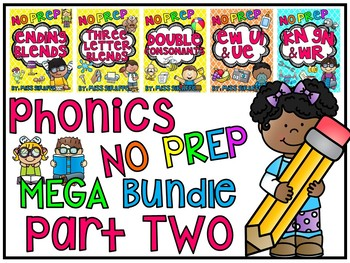 Phonics No Prep MEGA Bundle Part 2