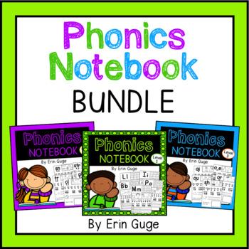 Phonics Notebook Bundle: Letters, Blends, Vowel Teams, Diphthongs, Digraphs, Etc