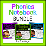 Phonics Notebook Bundle: Letters, Blends, Vowel Teams, Diphthongs, Digraphs, Etc