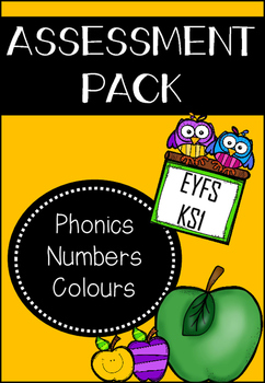 Phonics, Numbers and Colours Assessment Pack
