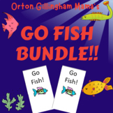 Orton Gillingham Games Bundle- Go Fish Phonics for all phonemes and syllables