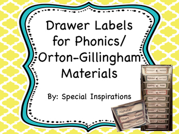 Phonics/Orton-Gillingham Labels