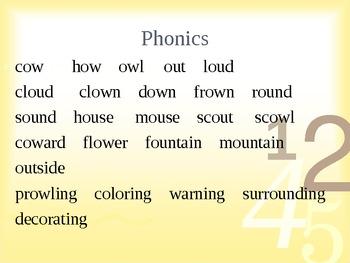 Phonics Ou  Sounds 2nd Grade Open Court
