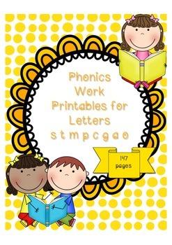 Phonics Pack 1 Letter CVC Word Sentence Work (letters sctg