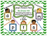 Phonics Pack 1 McGraw Hill Reading Wonders Supplement - Letters a, m, s, t, & p
