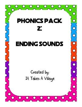 Phonics Pack 2: Ending Sounds