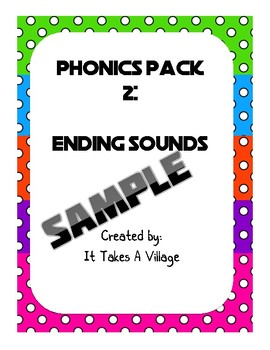 PREVIEW-Phonics Pack 2: Ending sounds