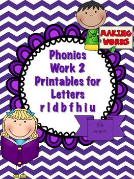 Phonics Pack 2 Letter CVC Word Sentence Work (letters rldb