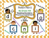 Phonics Pack 2 McGraw Hill Reading Wonders Supplement - Letters d, c, n, i, o