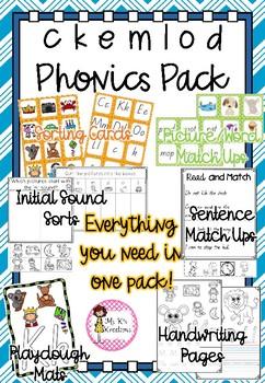 Phonics Pack 2 - c, k, l, e, m, d, o