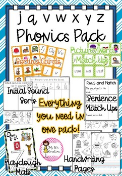 Phonics Pack 4 - j, v, w, x, y, z