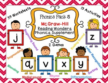 Phonics Pack 5 McGraw-Hill Reading Wonders Phonics Supplement