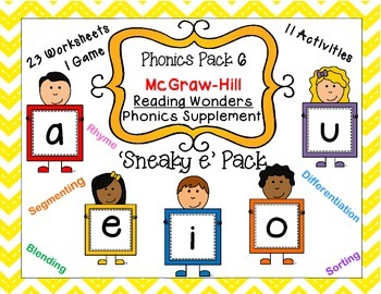Phonics Pack 6 'Sneaky e' McGraw-Hill Reading Wonders Phon