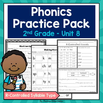 Phonics Pack Unit 8 Second Grade - R-controlled Syllable Type