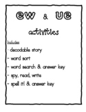 Phonics Packet: 'ew' and 'ue' words