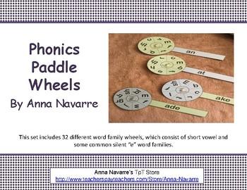 Phonics Paddle Wheels