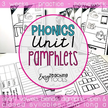 Phonics Pamphlets Unit 1