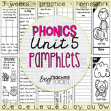 Phonics Pamphlets Unit 5 (long vowels and diphthongs)