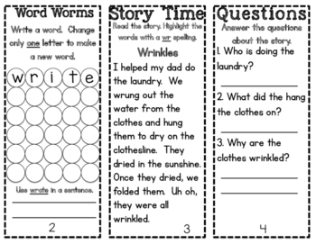 Phonics Pamphlets Unit 7 (inflectional endings, root words, kn, gn, wr)