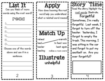 Phonics Pamphlets Unit 7 (inflectional endings, compound,root words, kn, gn, wr)