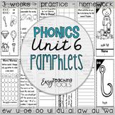 Phonics Pamphlets Unit 6 (variant vowel patterns)