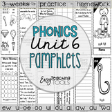 Phonics Pamphlets Unit 6 (variant vowel patterns)