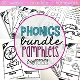 Phonics Pamphlets for the Entire Year