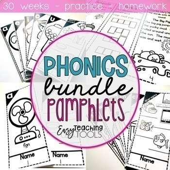 Phonics Pamphlets for the Entire Year Bundle