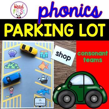 Phonics Parking Lot ELA Center | Consonant Letter Teams