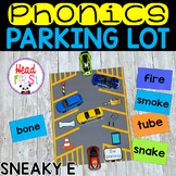 Phonics Parking Lot ELA Center | Sneaky E Magic E CVCE Words