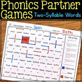 Phonics Partner Games for Two-Syllable Words