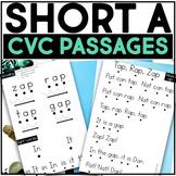 Kindergarten Phonics Reading Passages for CVC Words - Short A Word Family