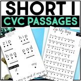Kindergarten Phonics Reading Passages for CVC Words - Short I Word Family