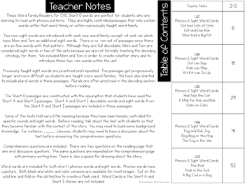 Phonics Reading Passages - Short O Word Family