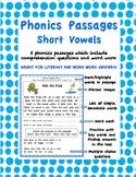 Phonics Passages: Short Vowels