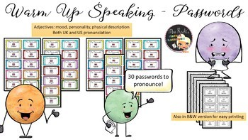 Phonetic Passwords - Adjectives