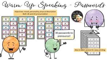 Phonetic Passwords Adjectives