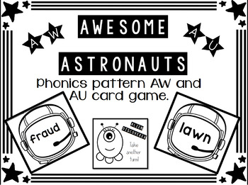 Phonics Pattern AU and AW Card Game
