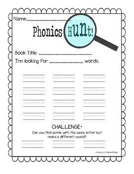 Phonics Pattern Book Hunt