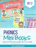 Phonics Mini Books Set 2, Diphthongs, Silent Letters, tch, dge