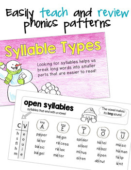 Phonics Mini Books Set 3, R-Controlled Patterns, Prefixes, Suffixes, Syllables