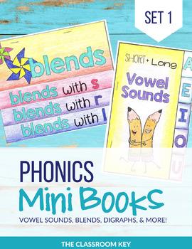 Phonics Mini Books, Word Families, Short & Long Vowels, Blends, Digraphs