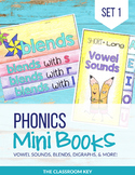 Phonics Mini Books, Word Families, Short & Long Vowels, Bl