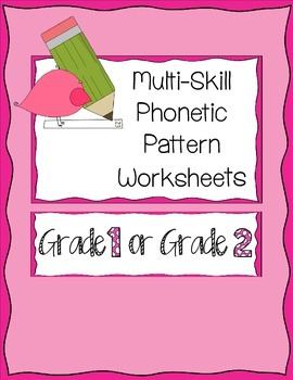 Phonics Patterns Worksheets That Require Critical Thinking