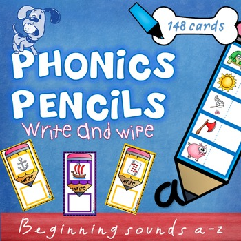 Phonics Pencils Letter Sounds Write & Wipe