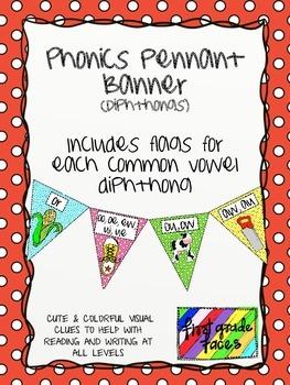Phonics Pennant Banner (Diphthongs)