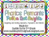 Phonics Pennants Polka Dot Brights: Digraphs, Trigraphs and Blends