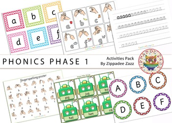 Phonics Phase 1 Activity Resources Pack-81 Printables/Worksheet/Games/Boardmaker