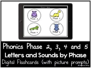 Phonics Phase 2,3,4,5 - Digital Flashcards - Phonics - Picture Prompts
