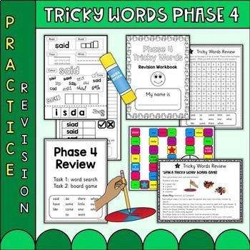 Phonics Phase 4 Tricky Words Practice Worksheets Uk Teaching Resources